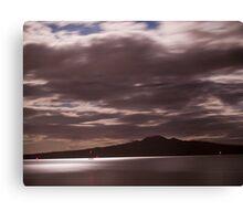 Rangitoto Moonlight Canvas Print