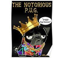 notorious pug Poster