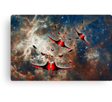 Ships from the Tarantula Nebula, How Long Will It Take Them To Reach Earth Canvas Print