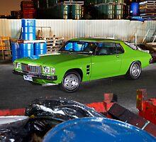 Green Holden HJ Monaro at night by John Jovic