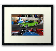 Green Holden HJ Monaro at night Framed Print