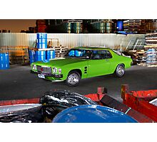 Green Holden HJ Monaro at night Photographic Print