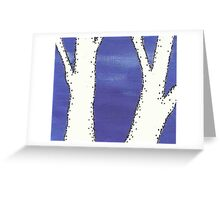 Negative Trees 7 Greeting Card