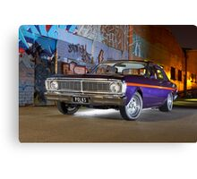 Purple Ford Falcon XY at night Canvas Print
