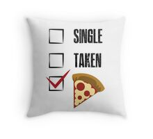 how about pizza? Throw Pillow