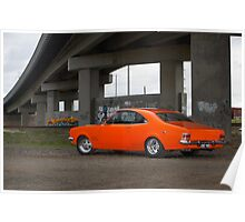 Orange Holden HG Monaro Poster