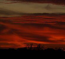 KC Autumn Sunset ~ Red Sky by Jelderkc