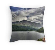 Mountain Reservoir Throw Pillow