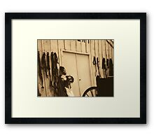 saloon girl Framed Print