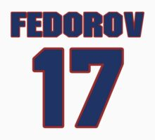 National Hockey player Fedor Fedorov jersey 17 by imsport