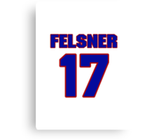 National Hockey player Denny Felsner jersey 17 Canvas Print