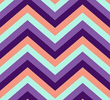 Retro Zig Zag Chevron Pattern by Medusa81
