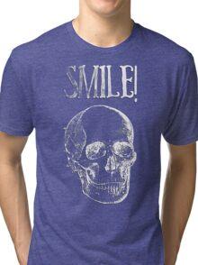 Smile! - White Tri-blend T-Shirt