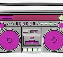 boom box pop art by Westyway85