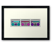 boom box pop art Framed Print