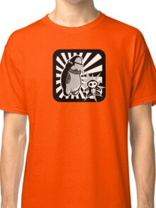 Robot with victim - noir style - sans text Classic T-Shirt