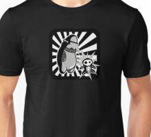 Robot with victim - noir style - sans text Unisex T-Shirt