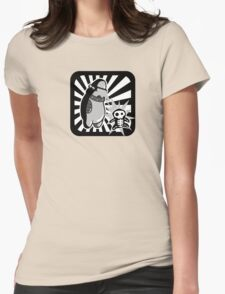 Robot with victim - noir style - sans text Womens Fitted T-Shirt