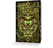 Green Man - Watcher of the Trees Greeting Card