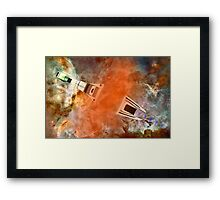 Cruiser/fighter passing through a time warp - all products Framed Print