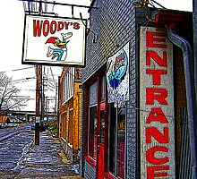 WOODYS Tavern by starvinartist