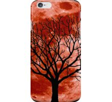 Red Moon Tree iPhone Case/Skin