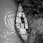 Black and White Boat by Sam Atwood