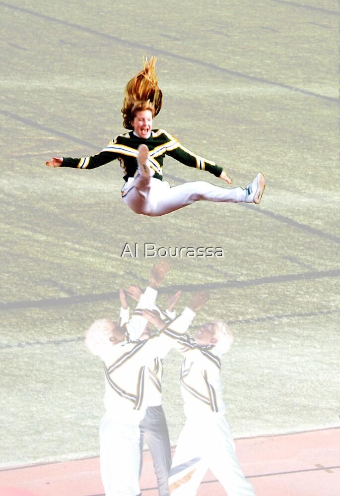 Eskimo Cheerleaders by Al Bourassa