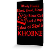 Khorne, the Blood God Red Greeting Card