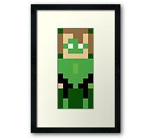 8-Bit Lantern Framed Print