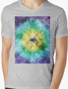 Colorful Tie Dye Graphic Mens V-Neck T-Shirt