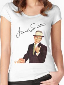 Frank Sinatra-Come Fly With Me Women's Fitted Scoop T-Shirt