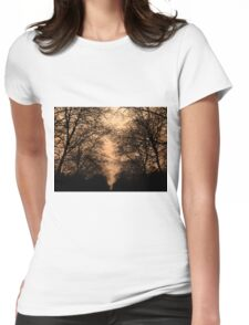 sunset and branches Womens Fitted T-Shirt