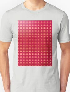 Gold hearts on pink Unisex T-Shirt