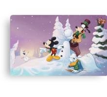 Mickey's Frozen Christmas Canvas Print
