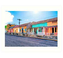 Colorful Streets of San Juan del Sur  Nicaragua Art Print