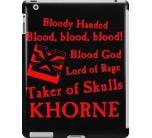 Khorne, the Blood God Red iPad Case/Skin