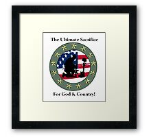 God & Coundtry Framed Print