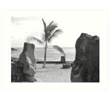 Playa Bastian Art Print