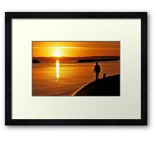 A sunrise walk in November at the Baltic Sea Framed Print