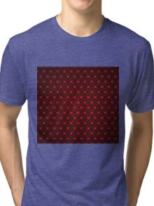 Grunge red pattern with hearts 4 Tri-blend T-Shirt