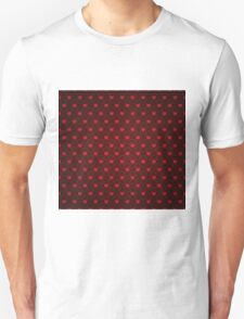 Grunge red pattern with hearts 4 Unisex T-Shirt