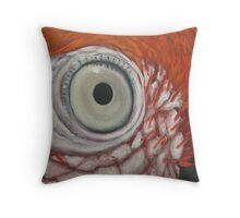 detail of Red Macaw Throw Pillow