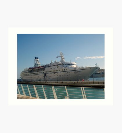 The cruise liner Art Print