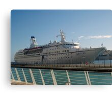 The cruise liner Canvas Print