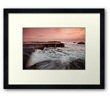Bar Beach Rock Platform 2 Framed Print