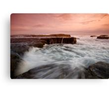 Bar Beach Rock Platform 2 Canvas Print