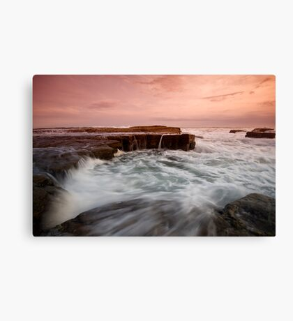 Bar Beach Rock Platform 2 Canvas Print
