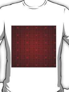 Grunge red pattern with hearts 5 T-Shirt