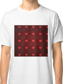 Grunge red pattern with hearts 7 Classic T-Shirt